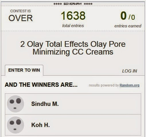 olay total effects pore minimizing cc cream giveaways