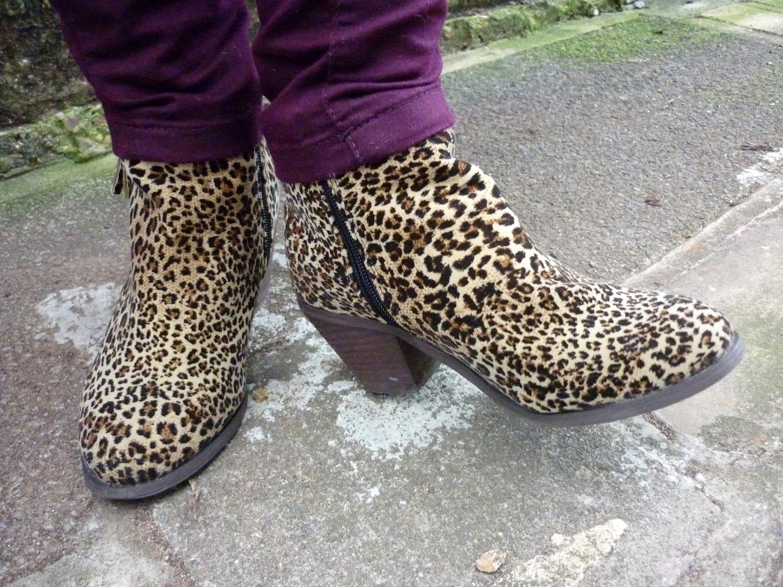 Office Leopard Print Ankle Boots, Dorothy Perkins Wine Jeans | Petite Silver Vixen