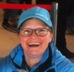The smiling face of Adelaide Oval attendant Lisa.