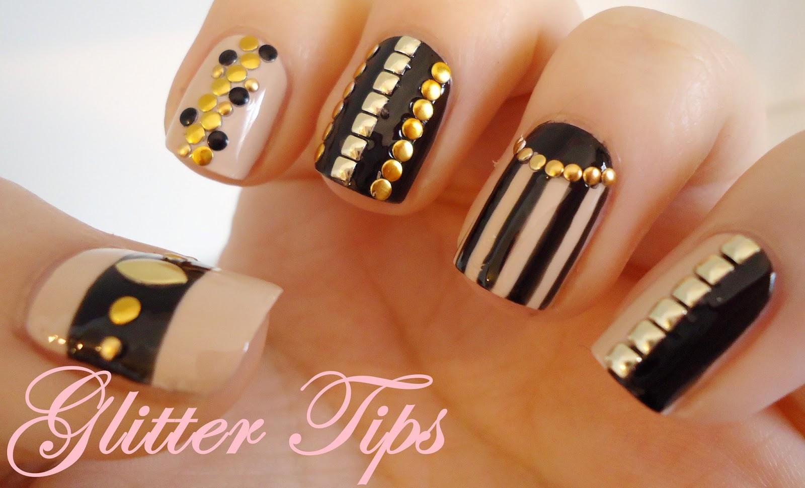 Glitter Tips Born Pretty Store Nail Stud Wheel Review