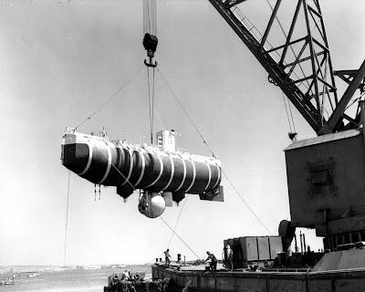 Bathyscaphe Trieste Marianas Trench Challenger Deep