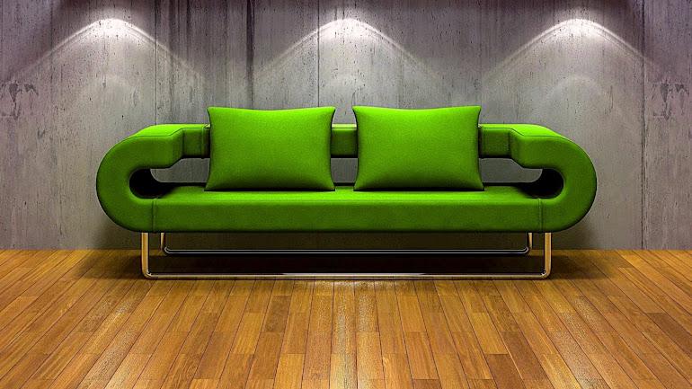 Interior Green Sofa
