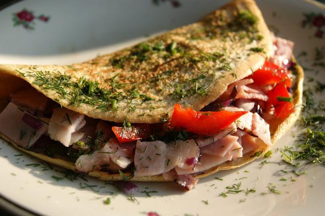omlet z szynka