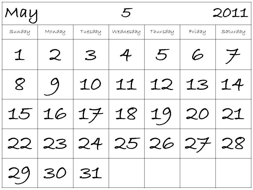 free may 2011 calendar template. may 2011 calendar template.