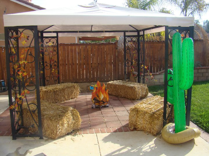 Wild Backyard Ideas :  Ever After Elmo goes to the Wild Wild West 1st Birthday Party