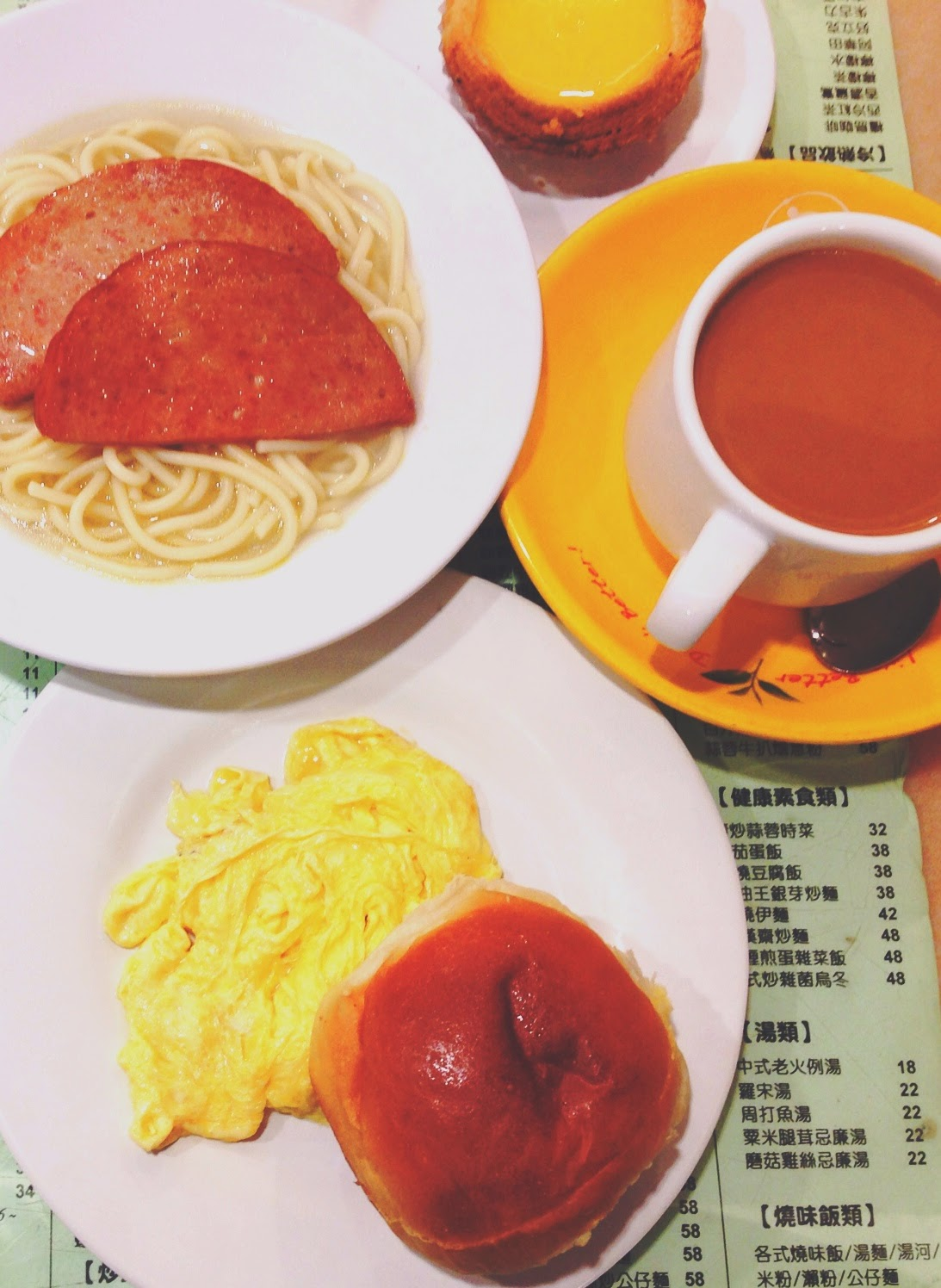 Honolulu Coffee Shop Wan Chai Breakfast Set