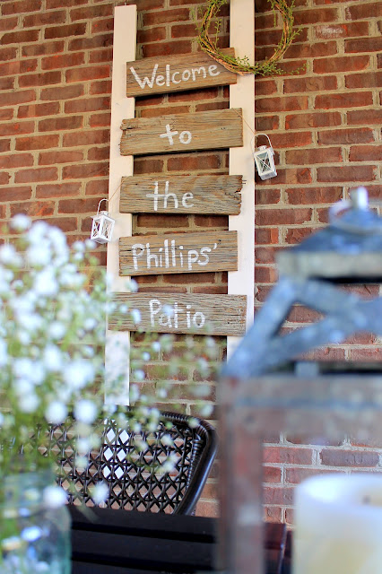 diy fence board patio sign