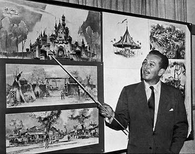 "a brief history of disneyland created by walt disney A brief history of disney's decision whether to attribute to walt disney all that was that will ""live"" at disneyland from."