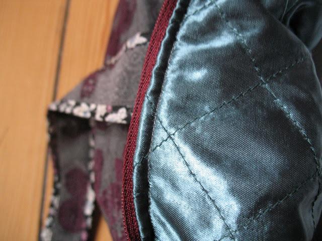 zoom sur tissu matelassé en doublure