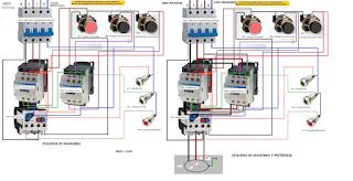 inversor de giro motor trifasico mando por pulsadores paro marcha pasando por paro