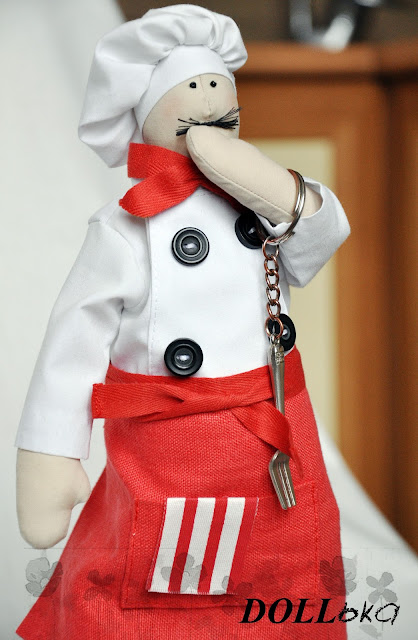Тильда Поварёноу текстильная игрушка ручной работы