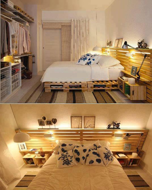 Tahta+Paletlerden+Yatak+Odas%C4%B1 Tahta Palet Yatak Odası Takımı