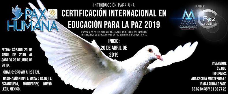 Certificación Internacional en Educación para la Paz