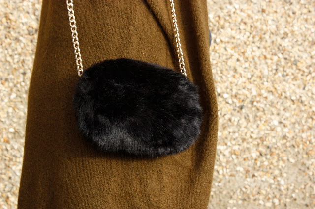 Close up of the fluffy bag from Primark