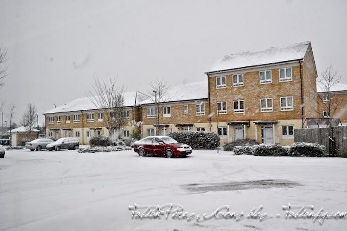 Nieva en Londres