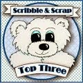Yay! Top 3 at Scribble and Scrap ~ 1st March 2015