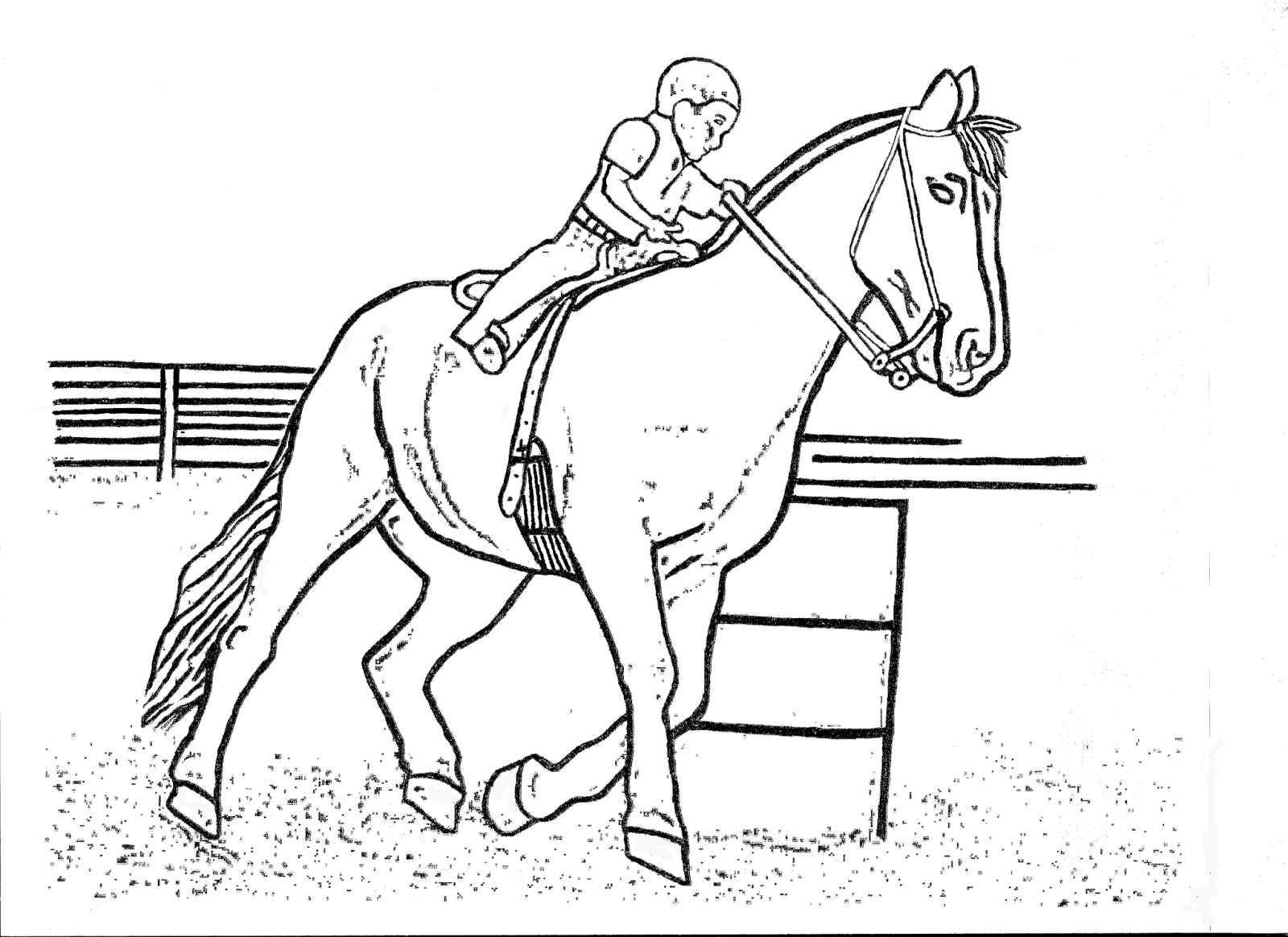 RODEO COLORING PAGES: Barrel Racing Kid Color Page by DANCING ...
