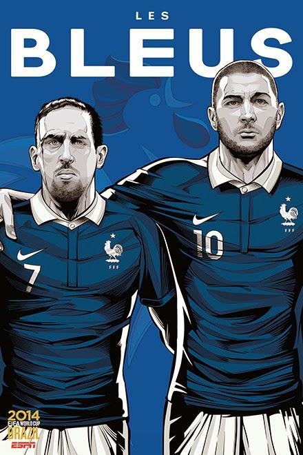 Poster keren world cup 2014 - Prancis