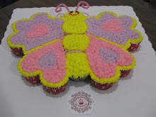 Pastel de cupcakes Mariposa