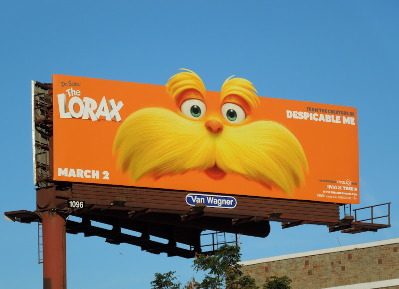 The Lorax movie billboard