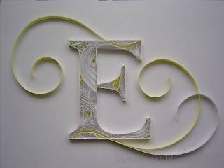 "Quilling ""E"" 1   wesens-art.blogspot.com"