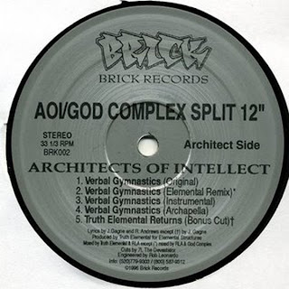 Architects Of Intellect / God Complex ‎– Verbal Gymnastics / Strontium 90 (VLS) (1996) (192 kbps)