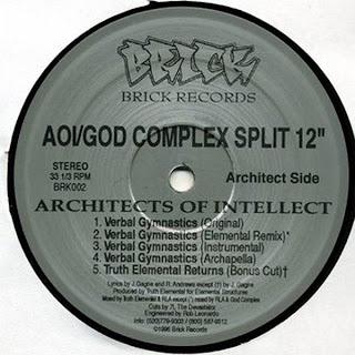 Architects Of Intellect / God Complex – Verbal Gymnastics / Strontium 90 (VLS) (1996) (192 kbps)