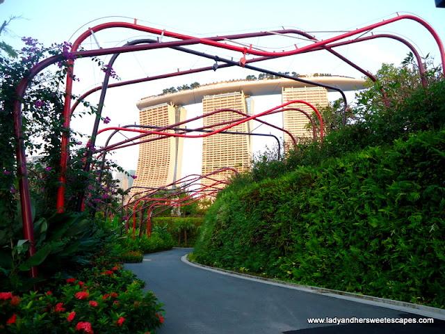 view of Marina bay Sands Skypark