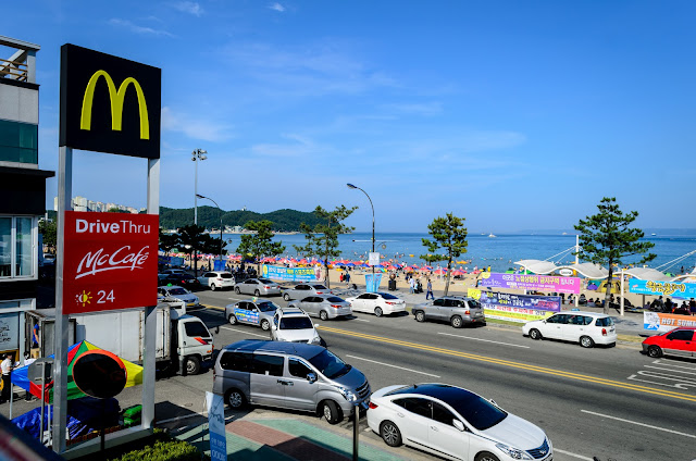 McDonald's Bukbu Beach Pohang South Korea.