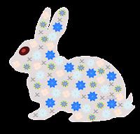 Coelho floral - Criação Blog PNG-Free