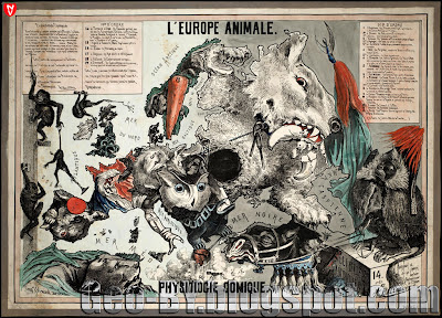 L'Europe animale: physiologie comique, 1882