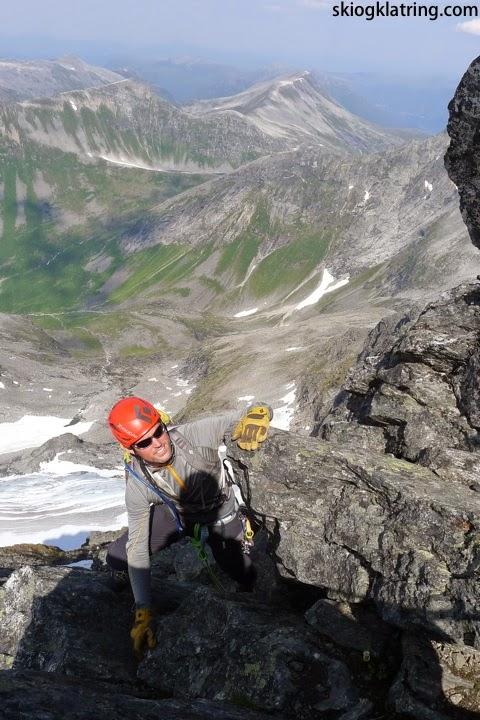 Fjellføring på Gjuratind i Romsdal