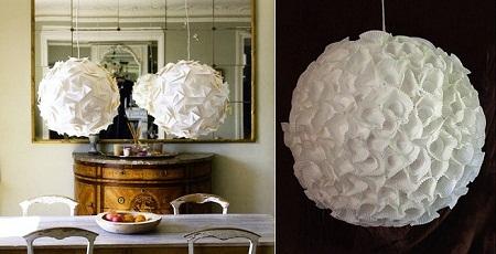 Lamparas de papel reciclado decoraci n reciclada - Decoracion de lamparas de papel ...