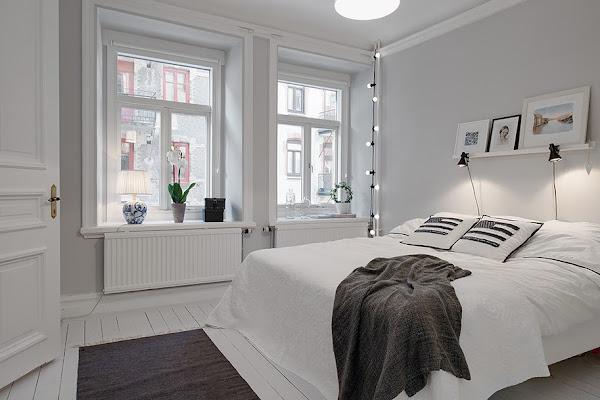 Un precioso apartamento de estilo n rdico con un for Dormitorio estilo nordico infantil