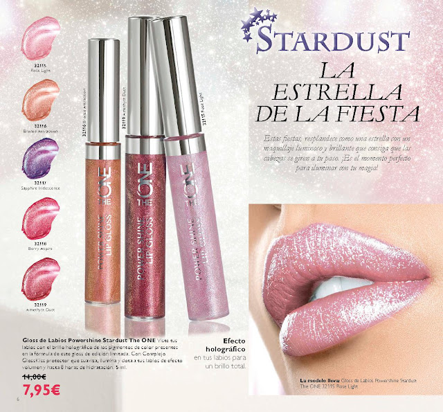 Gloss de Labios Powershine The One Stardust de Oriflame
