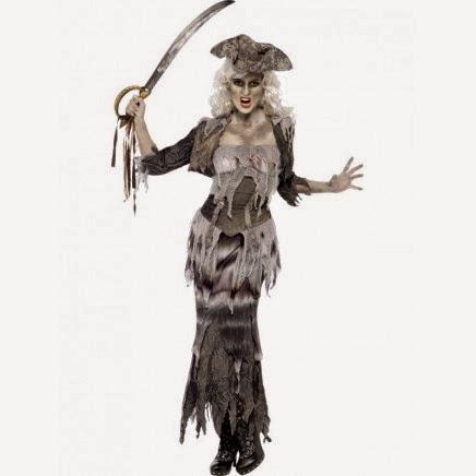 Disfraz Pirata Fantasma Mujer