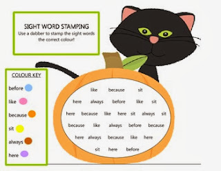 http://www.teacherspayteachers.com/Product/FREE-COLOUR-CODED-SIGHT-WORD-STAMPING-885924