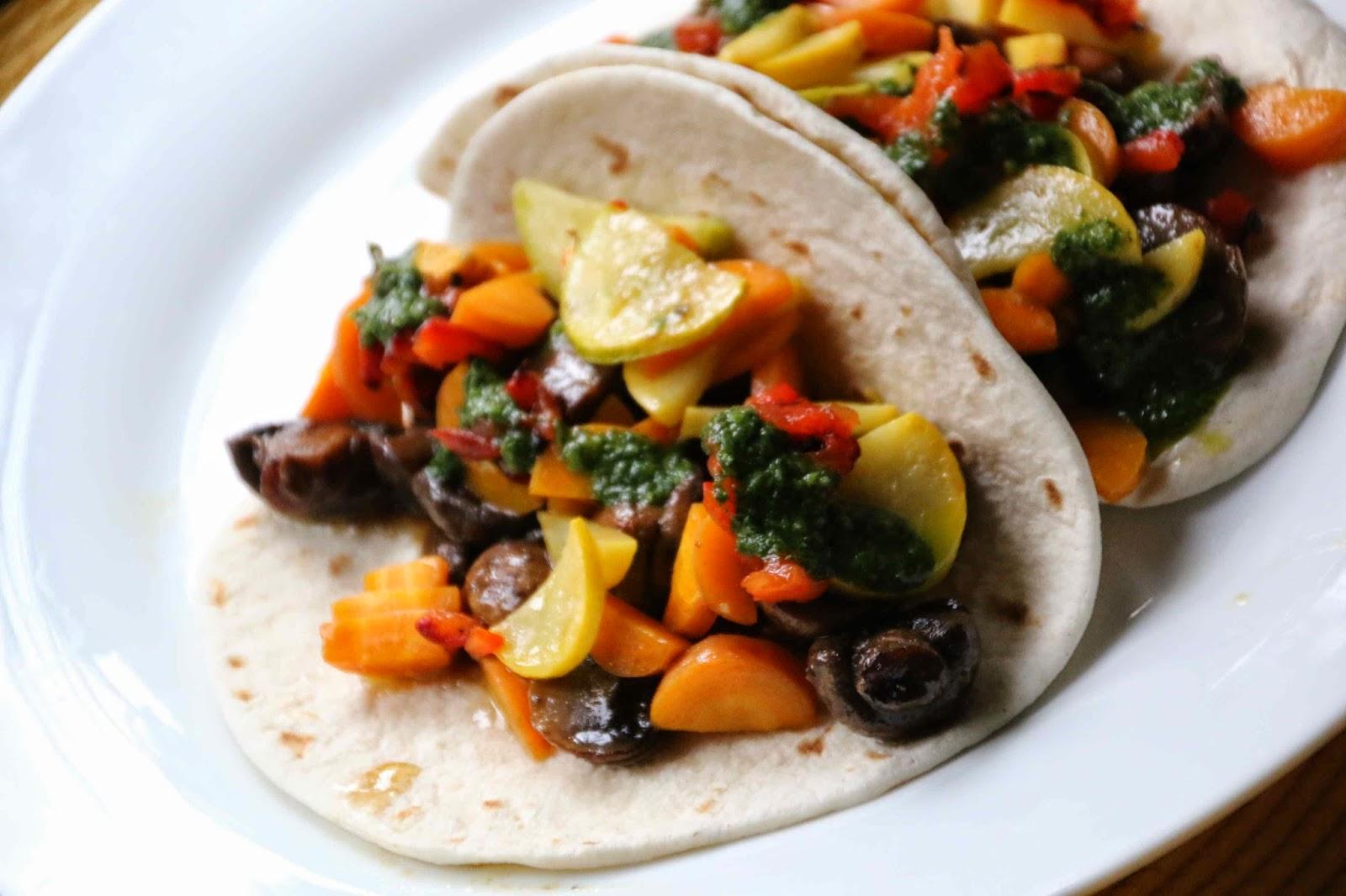 Beer Braised Mushroom Tacos