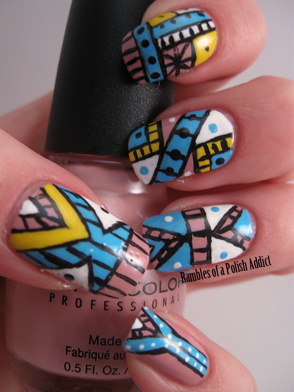 Tribal nail art with sinful colors polish in starfish