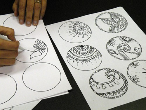 Mehndi Drawings Simple Designs : Mehndi design for hands new on papers