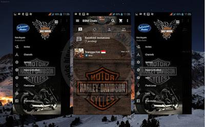 New BBM Mod Tema Harley Davidson v2.11.0.18