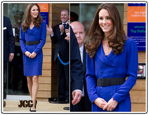 Kate Middleton wearing a royal blue coat dress- 24 Pics