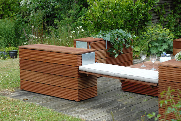 Xardinnova ii bancos for Bancos de jardin con almacenaje
