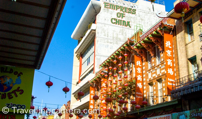 During recent official trip to San Francisco, I was staying around Union Square and planned to walked till China Town. Before reaching the town, I had read a lot about China Town on internet and planned to check out some stuff in these markets. This post shares some photographs from streets around China town, it's shop and our experiences. We were staying in Hilton hotel and China town is just 10 minutes walk from the hotel. We picked a map from the reception and headed towards China Town. After walking for few minutes you see above gate, which indicates the entry to China Town of San Francisco. This market is quite popular for buying electronic stuff and cheap stuff. The colorful shops of China town have variety of stuff. They have always some lucrative deals posted outside, which would make you decide to have a look. After crossing these huge buildings of Union Square you suddenly reach streets with 4 storey buildings and most of them are either shops or restaurants. There are some interesting eating places in the market, but mainly for folks who eat non-veg.As we were walking in these streets, we noticed varied performances happening. There were some very talented folks on the street, who were singing, playing music or doing some acts. I was super impressed by this man who was playing drum with empty containers & bottles of different size, shape and material. That was pretty interesting. Later I realized that lot of folks in San Francisco were doing it. Seemed like a common practice on streets.There are few churches around Chinatown in San Francisco. We didn't go inside these churches except the one which had huge lawn in front of it. This church was located just next to the China Town - Saints Peter and Paul Church. China town offers some great deals on these souvenirs. If you plan to buy the same stuff at Union Square or other places, you will find it costly. But condition is that you need to buy in larger quantity. Larger means 4+ for these souvenirs.This man 