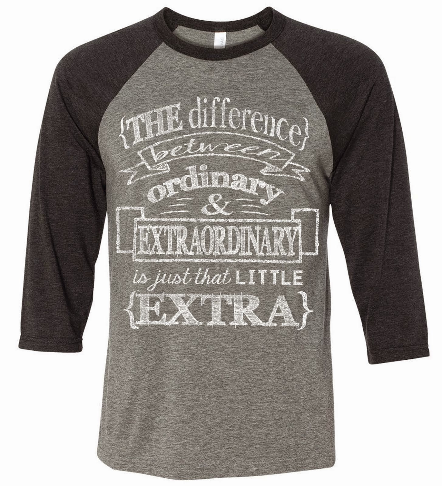 Extraordinary Grey/Charcoal Triblend Raglan