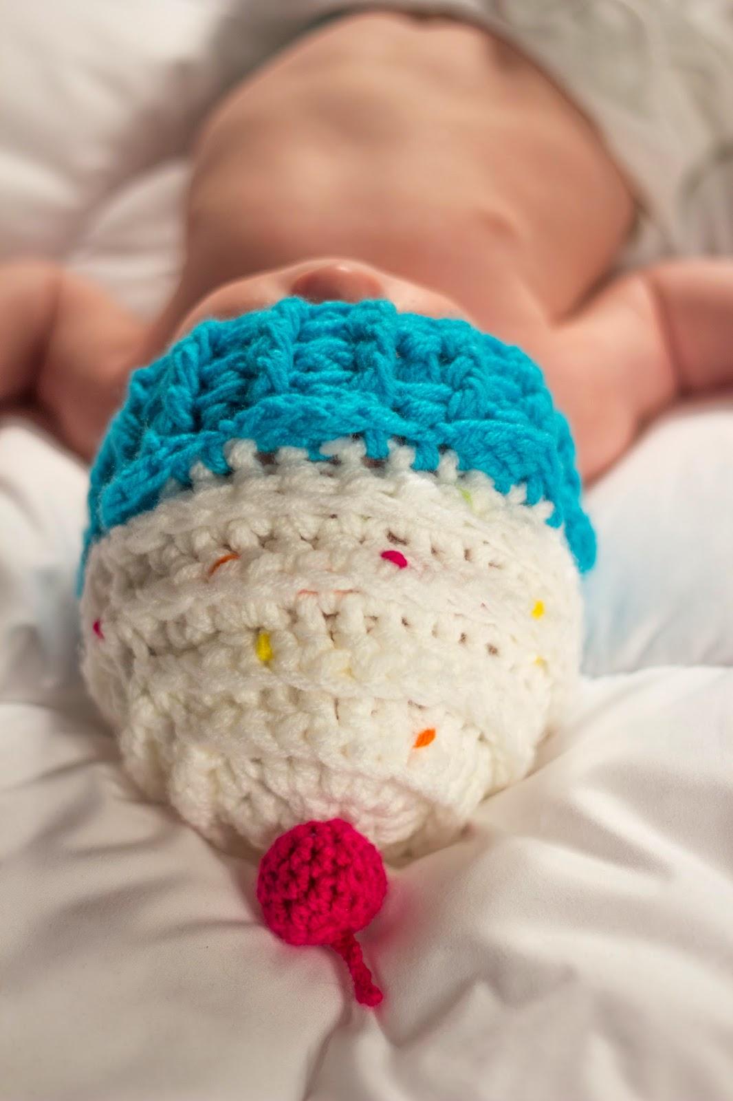 czapka muffinka, muffinka na szydełku, muffin hat,