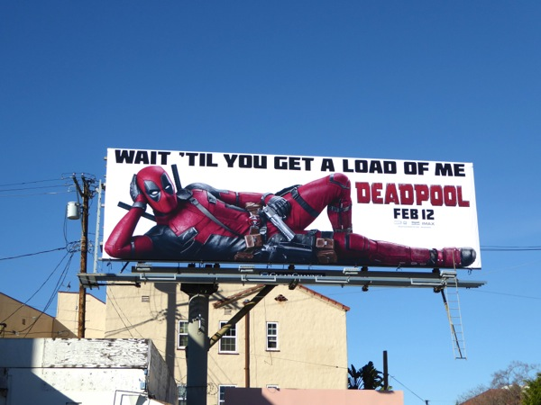Deadpool movie billboard