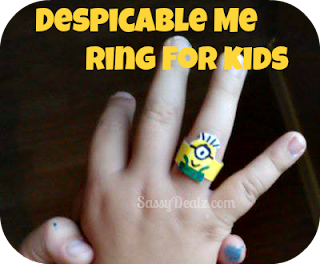 despicable me minion ring craft for kids