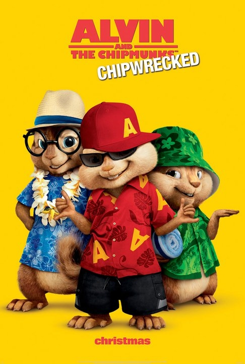 Even lost on an tropical island Alvin and the Chipmunks manage to look