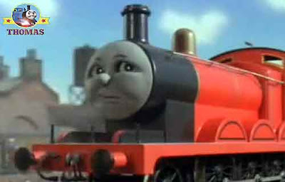 Thomas the tank James the red train Eurorail big express engine Gordon and Spencer the tank engine